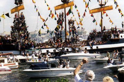 Gasparilla Boat Parade view 1